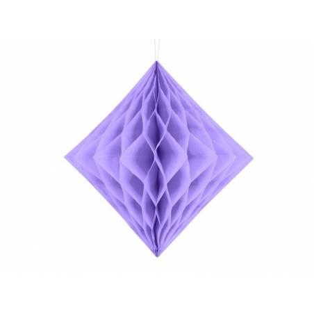 Diamant en nid d'abeille lilas 20cm