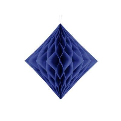 Diamant en nid d'abeille bleu marine 20cm