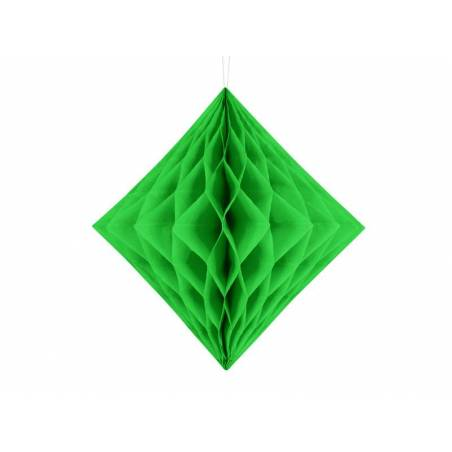 Diamant en nid d'abeille vert clair 20cm