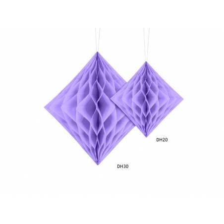 Diamant en nid d'abeille lilas 30cm