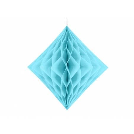 Diamant en nid d'abeille bleu ciel 30cm