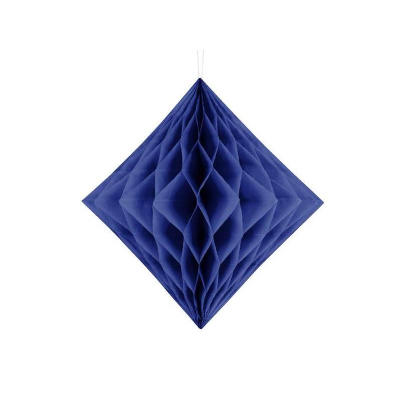 Diamant en nid d'abeille bleu marine 30cm