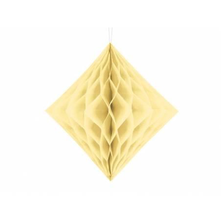 Diamant en nid d'abeille crème 30cm