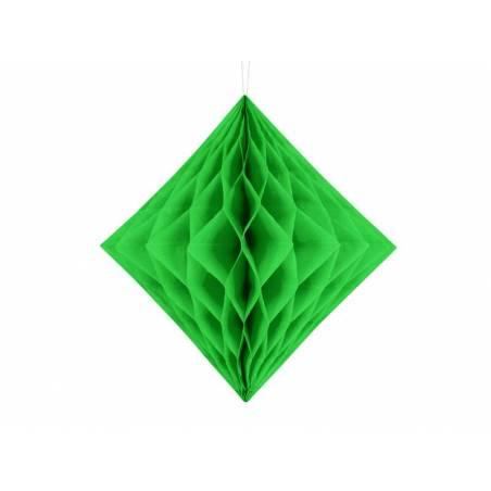 Diamant en nid d'abeille vert clair 30cm