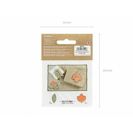 Décorations en papier Woodland - Feuilles