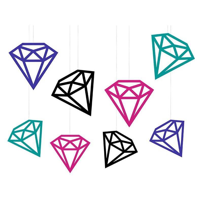 Décorations Diamants mélanger