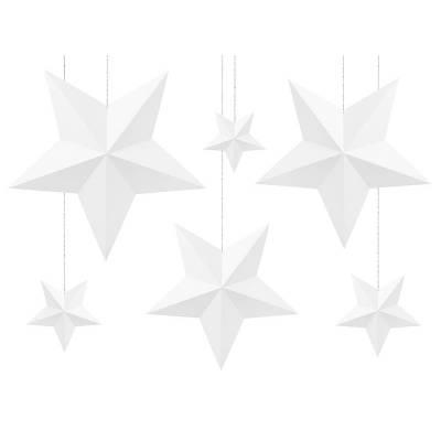 Étoiles de décoration blanc