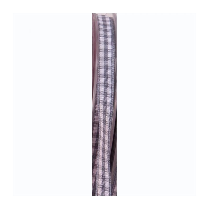 Ruban vichy 6 mm - Couleur gris