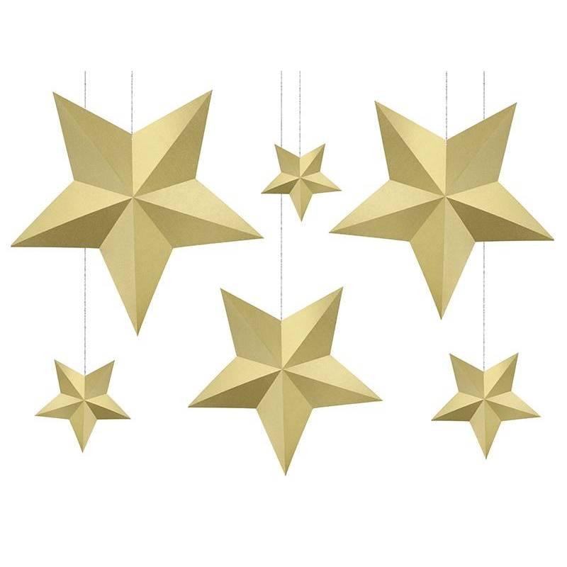 Étoiles de décoration or