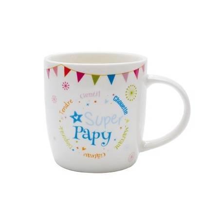 "Mug blanc ""Super Papy"""