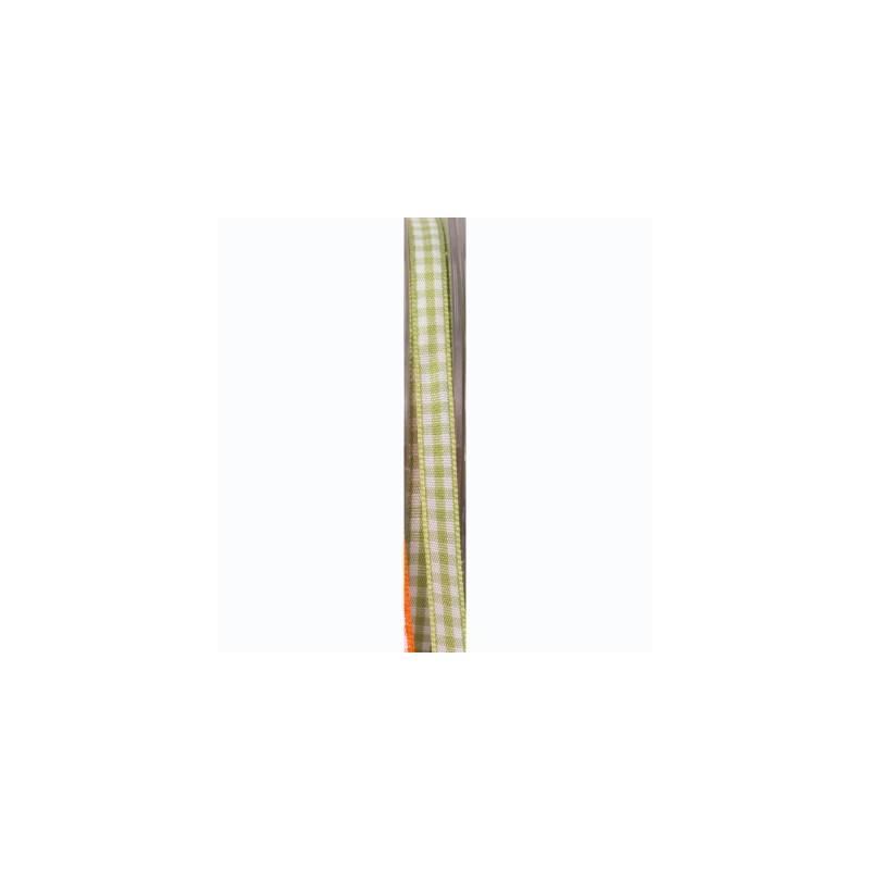 Ruban vichy 6 mm - Couleur vert