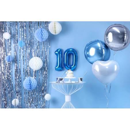 Ballon en aluminium numéro 0 35cm bleu