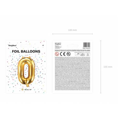 Foil Ballons Number 0 35cm or