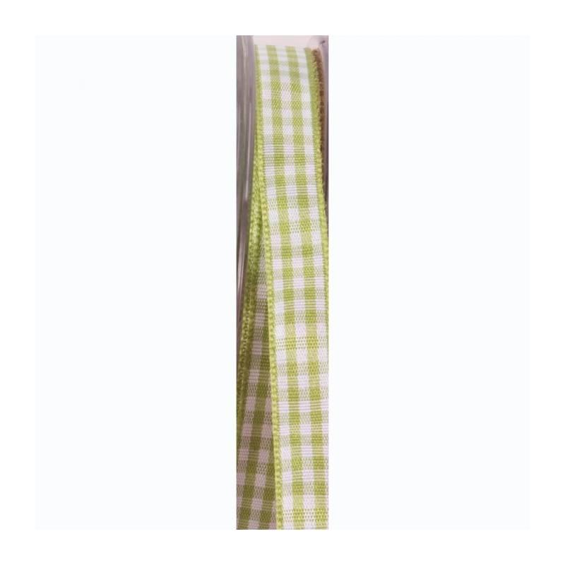 Ruban vichy 10 mm - Couleur vert