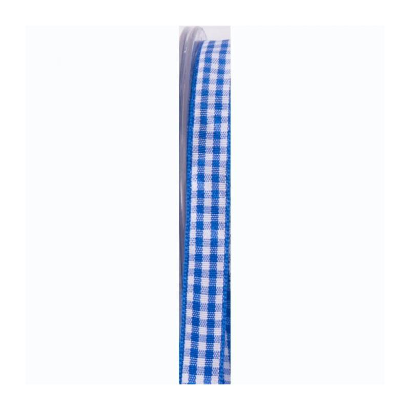 Ruban vichy 10 mm - Couleur bleu