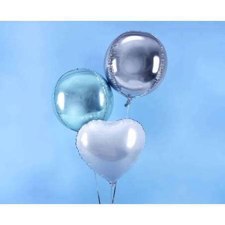Ballon en papier d'aluminium 40 cm bleu ciel