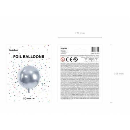 Ballon en aluminium 40cm argent