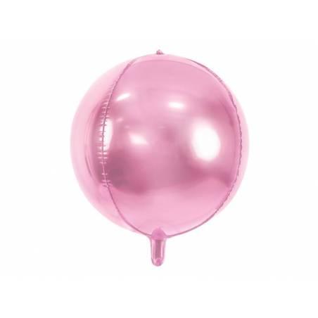 Ballon en aluminium 40 cm rose pâle