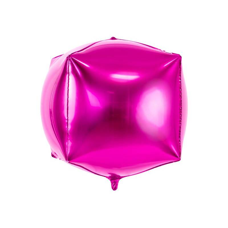 Foil Ballons Cubic 35x35x35cm rose foncé