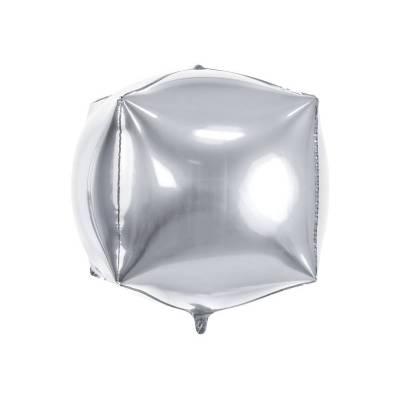 Foil Ballons Cubic 35x35x35cm argent