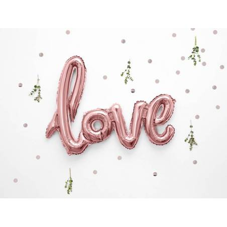 Foil Ballons Love 73x59cm or rose