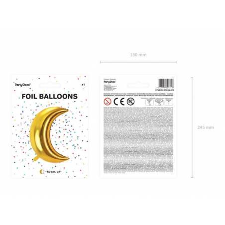 Ballon Lune 60cm doré