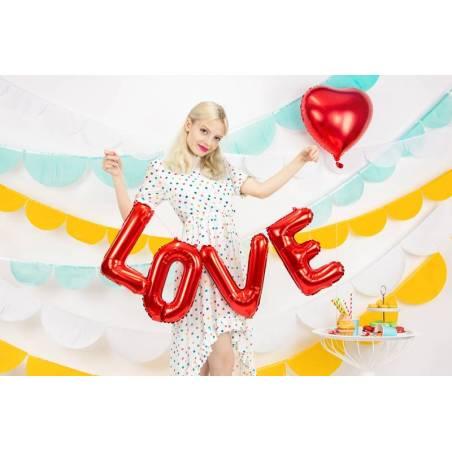 Foil Ballons Love 140x35cm rouge