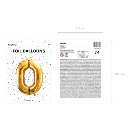 Ballon en aluminium numéro 0 86cm or