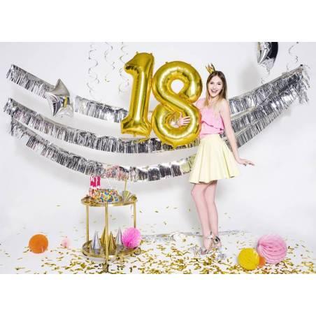 Ballon en aluminium numéro 1 86cm doré