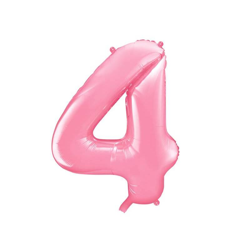 Ballon d'aluminium numéro 4 86cm rose