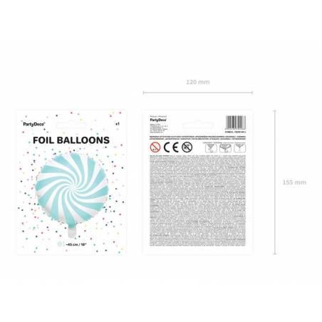 Bonbons Foil Ballons 45cm bleu clair