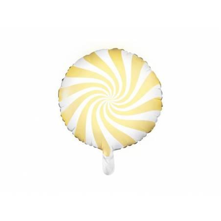 Bonbons Foil Ballons 45cm jaune clair