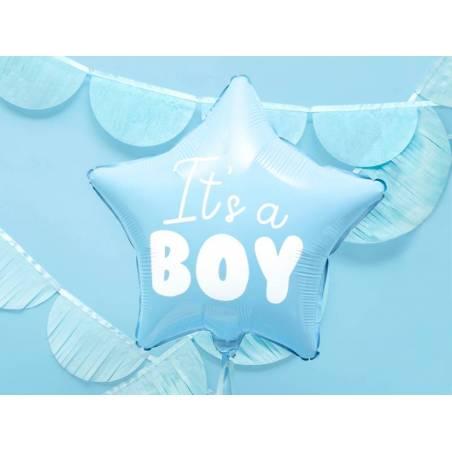 Foil Ballons Star - C'est un garçon 48cm bleu clair