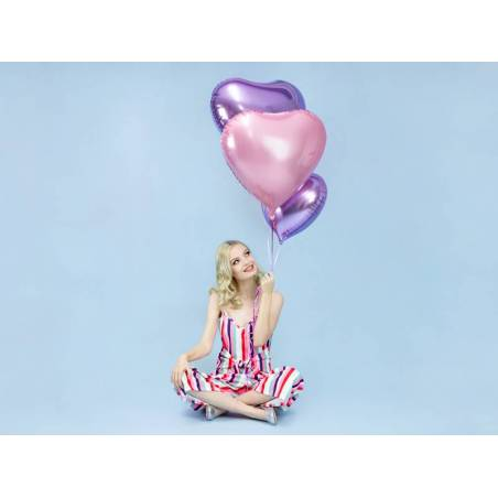Foil Ballons Heart 61cm lilas clair