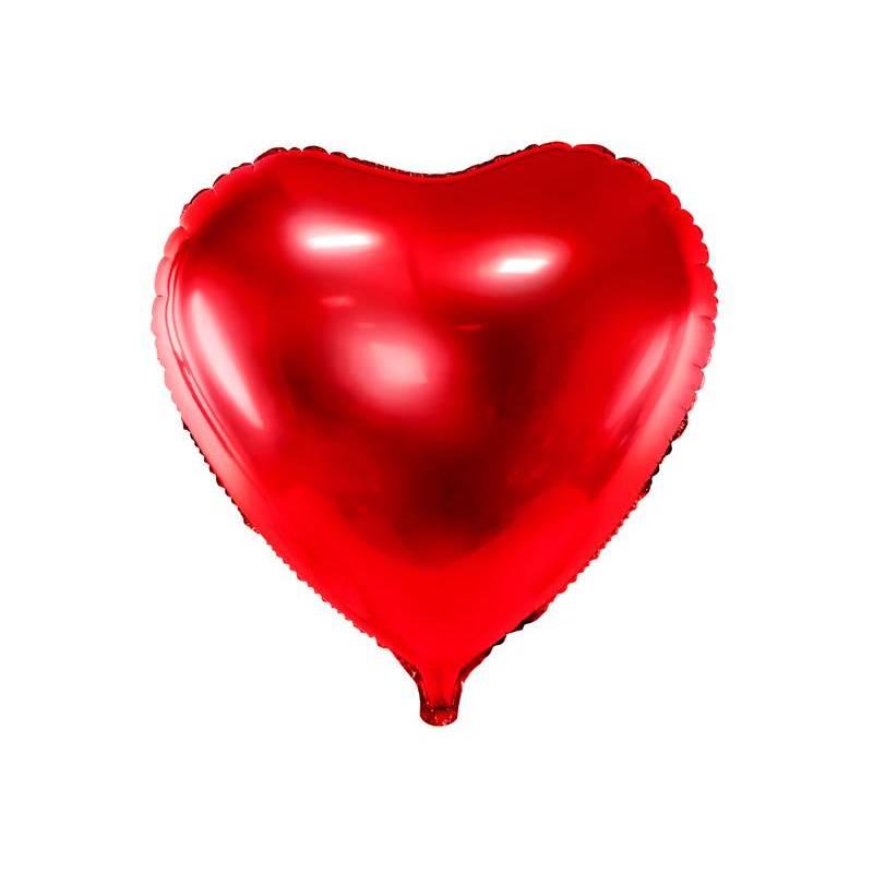 Foil Ballons Heart 61cm rouge