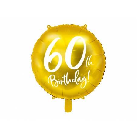 Ballon Plat 60 ans or 45 cm