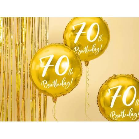 Ballon Plat 70 ans or 45cm