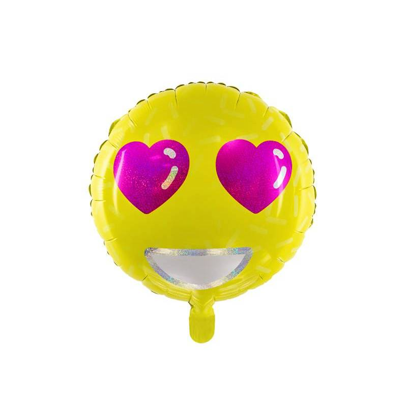 Ballon Alu Emoji - Amour 45cm