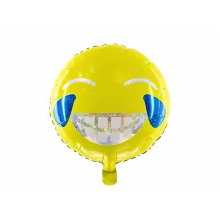 Emoji Ballon Feuille - Sourire 45cm