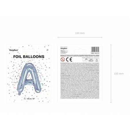 Ballon en aluminium lettre A 35cm holographique