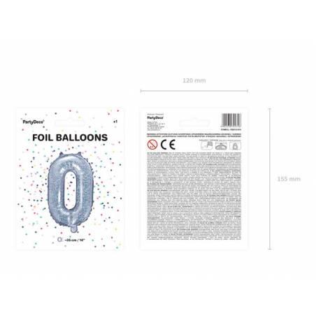 Lettre de ballon en aluminium O 35cm holographique
