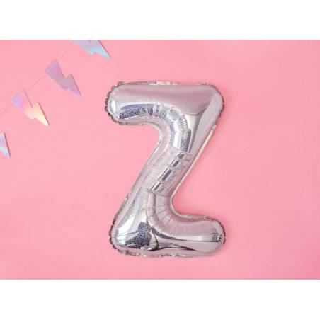 Ballon en aluminium lettre Z 35cm holographique