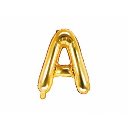 Ballon Feuille Lettre A 35cm doré