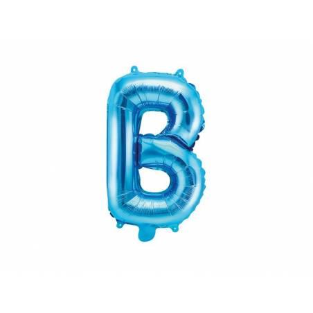 Ballon en aluminium lettre B 35cm bleu