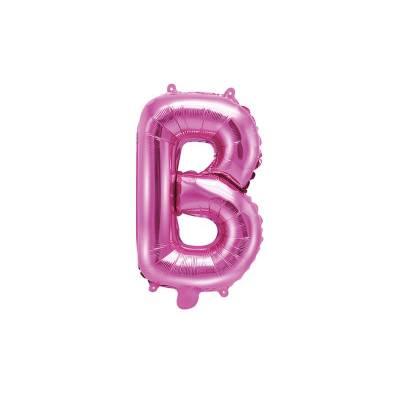 Ballon en aluminium lettre B 35cm rose foncé