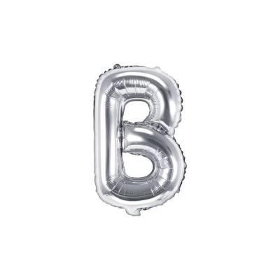 Ballon en aluminium lettre B 35cm argent