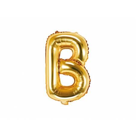 Ballon en aluminium lettre B 35cm doré