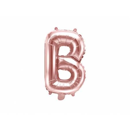 Ballon en aluminium lettre B 35cm or rose