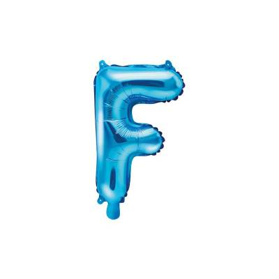 Ballon en aluminium lettre F 35cm bleu