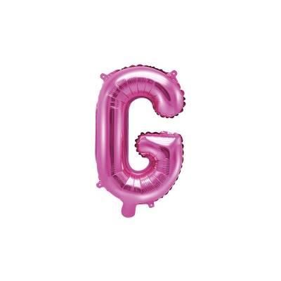 Ballon en aluminium lettre G 35cm rose foncé